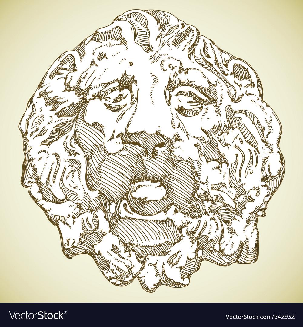 Lion heraldic vector