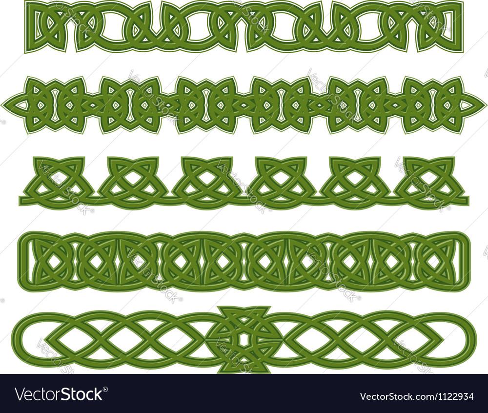 Green celtic ornaments vector