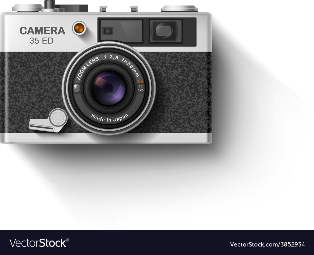 Old photo camera vector
