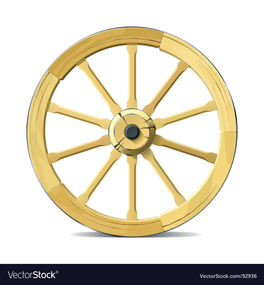 Wagon wheel vector