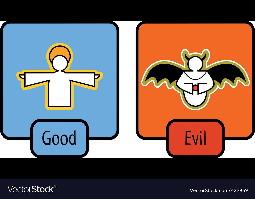 Good and evil symbols vector