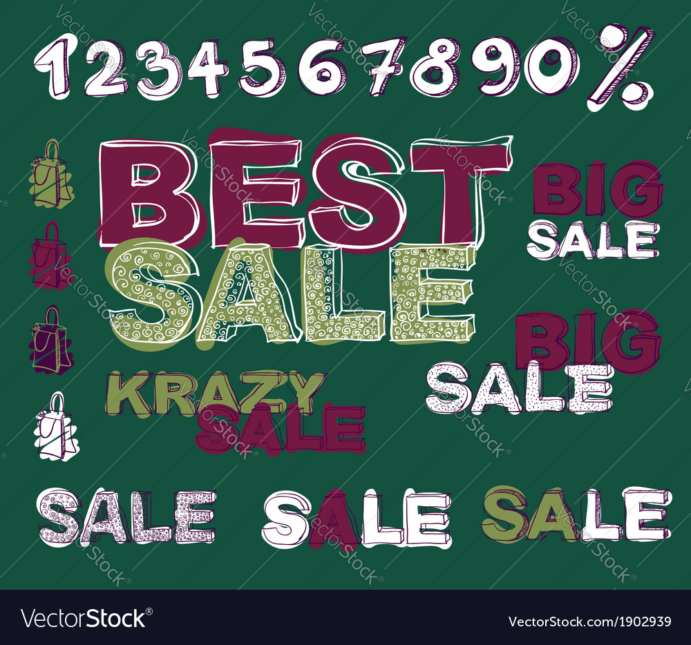 Retail signs vector