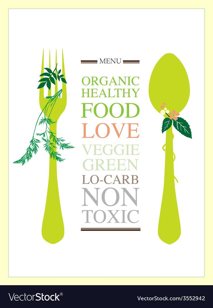 Food menu design template vector