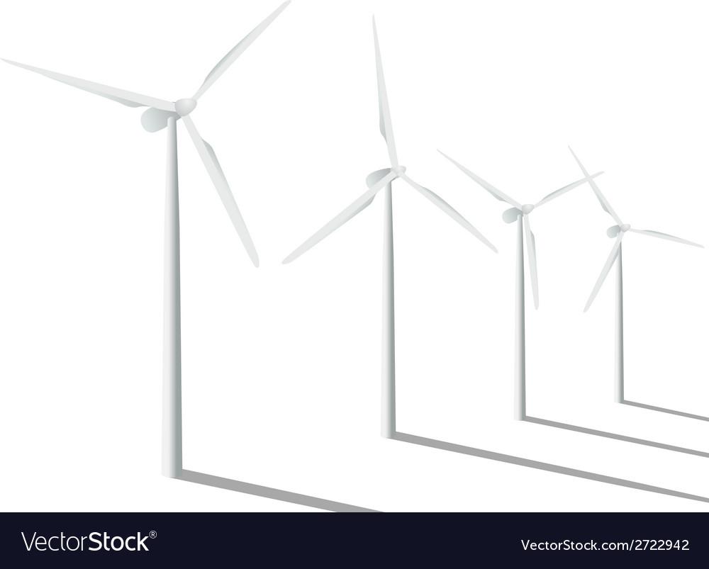 Wind generators vector