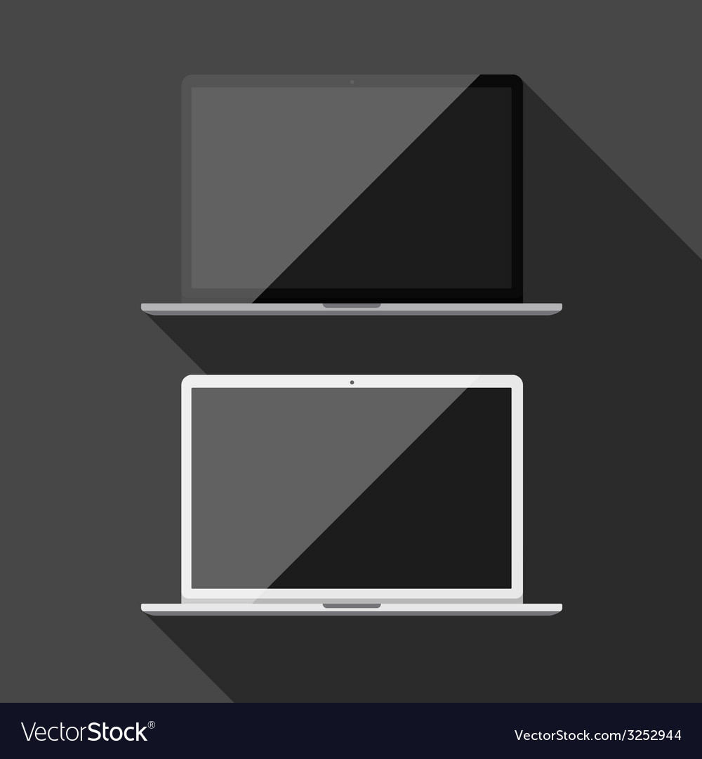 Laptop isolated vector