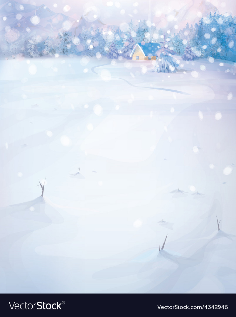 Winter nature scenery vector