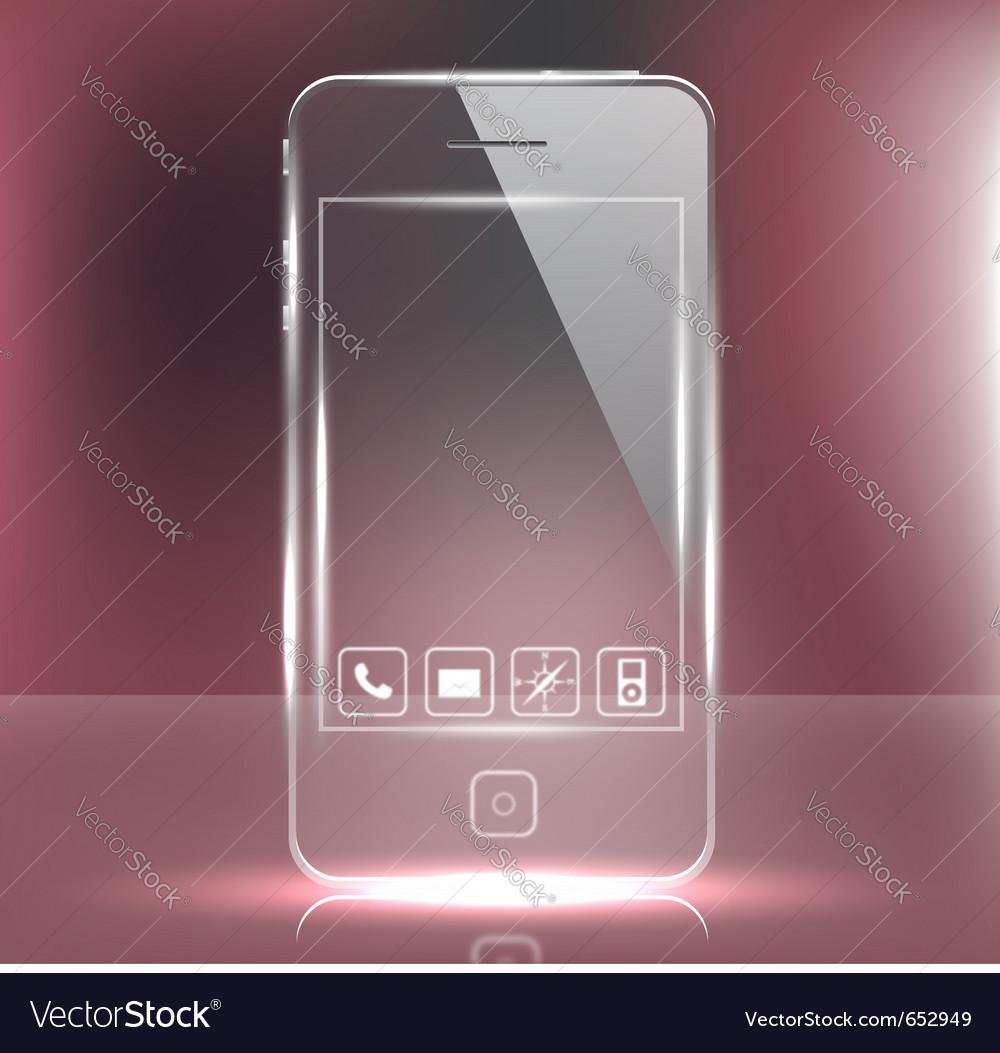 Futuristic glass cell phone vector