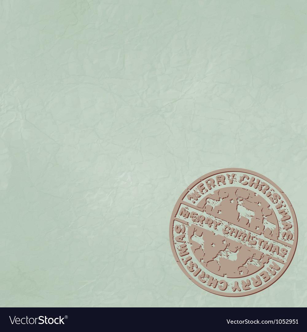 Christmas stamp copyspace vector