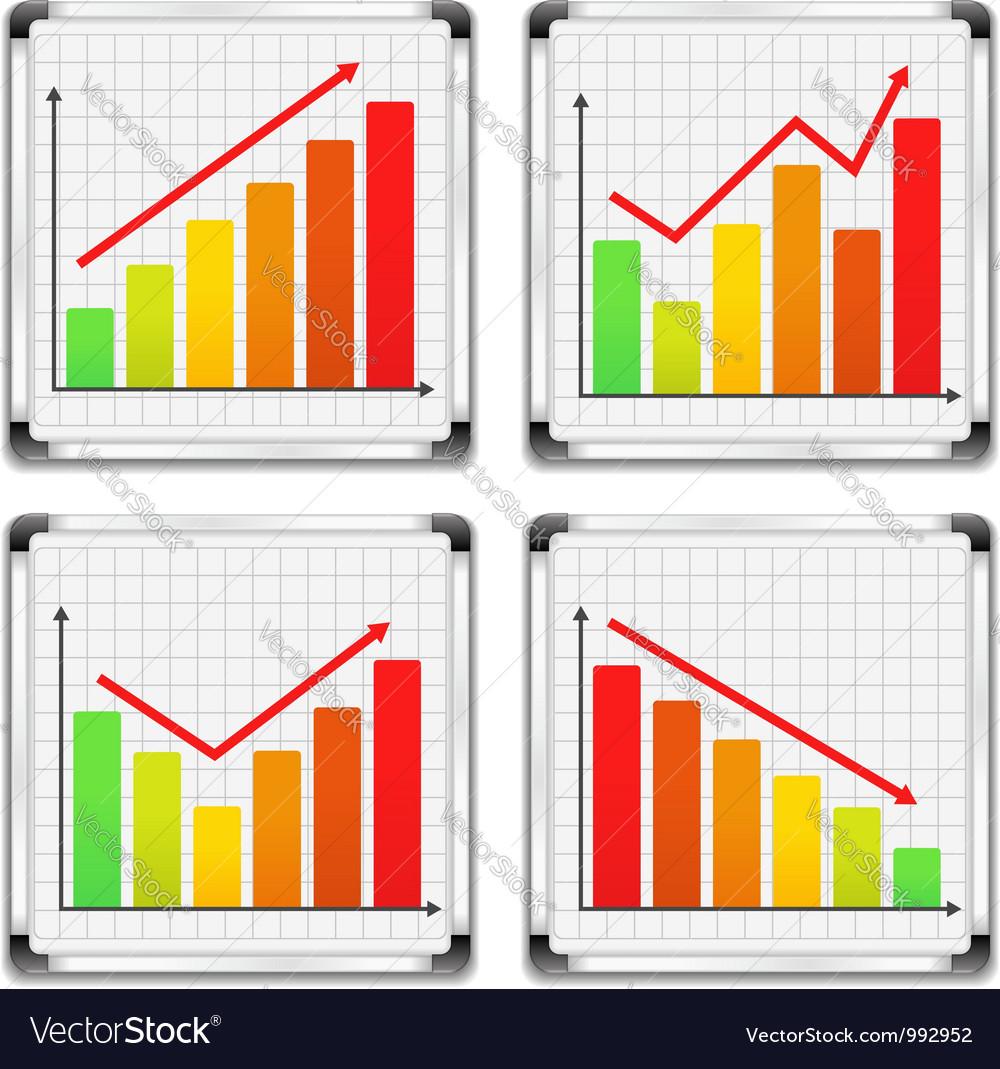 Bar graphs vector