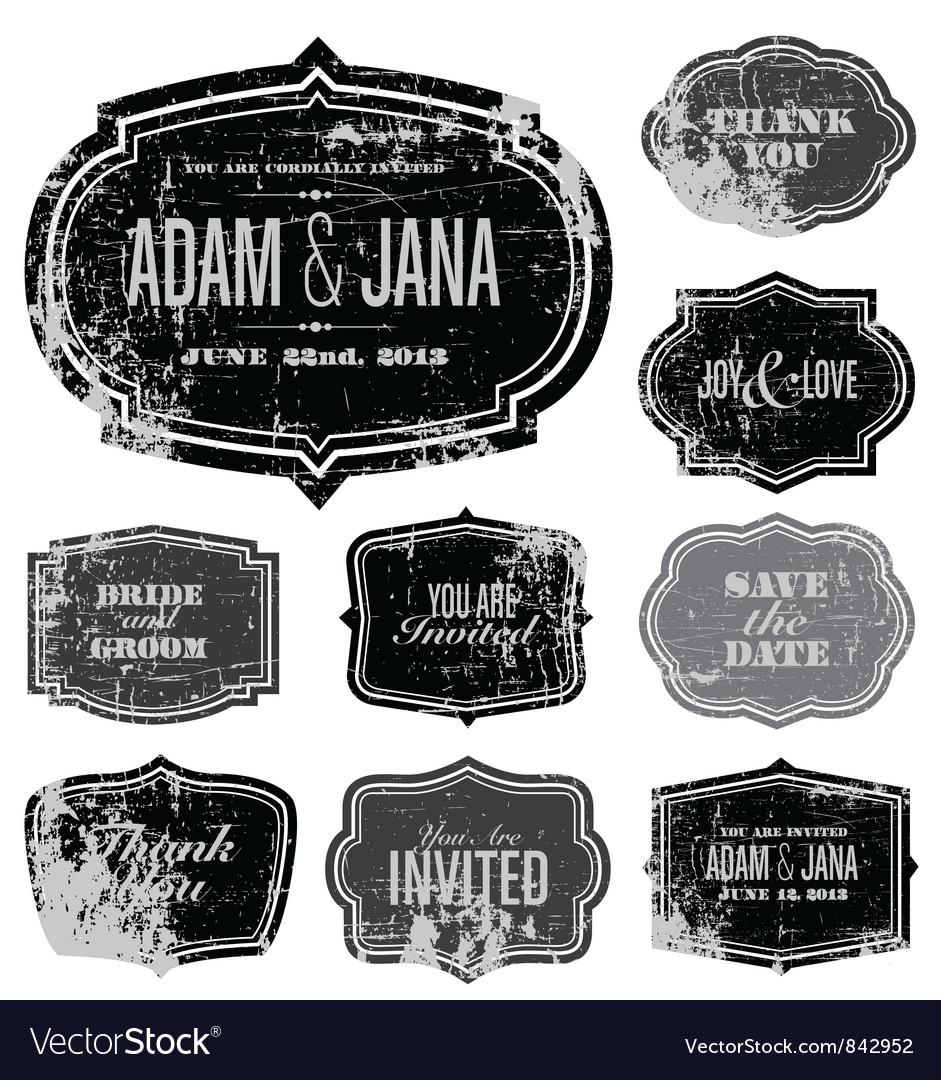 Ornate stickers vector