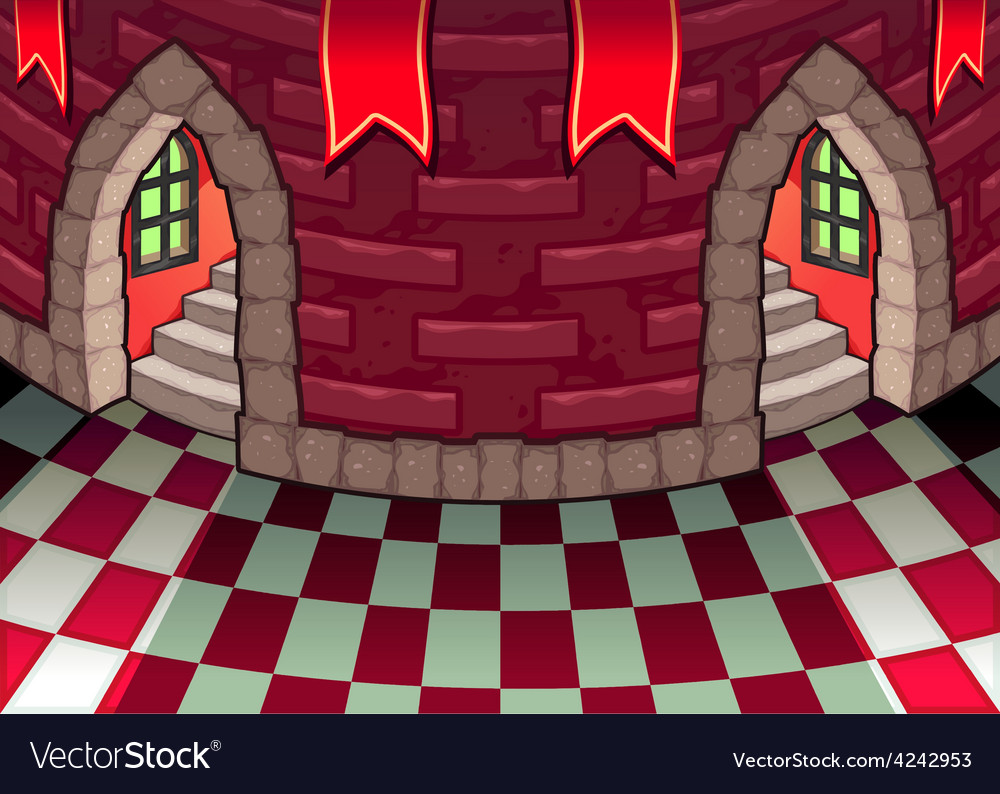 Inside the castle vector