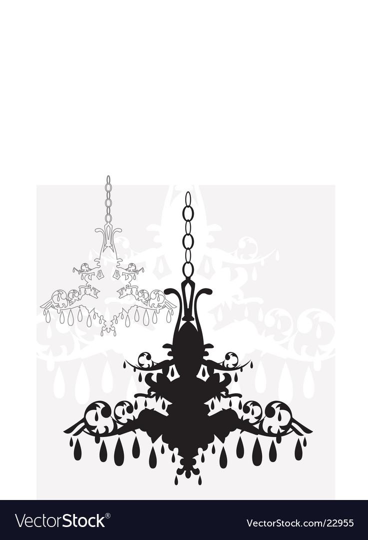 Simple chandelier graphic vector