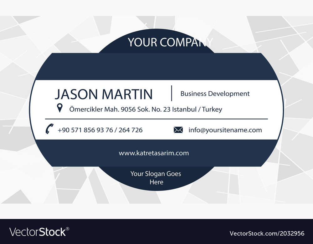 Abstract decorative business card vector