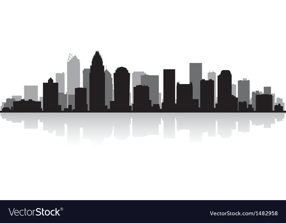 Charlotte usa city skyline silhouette vector