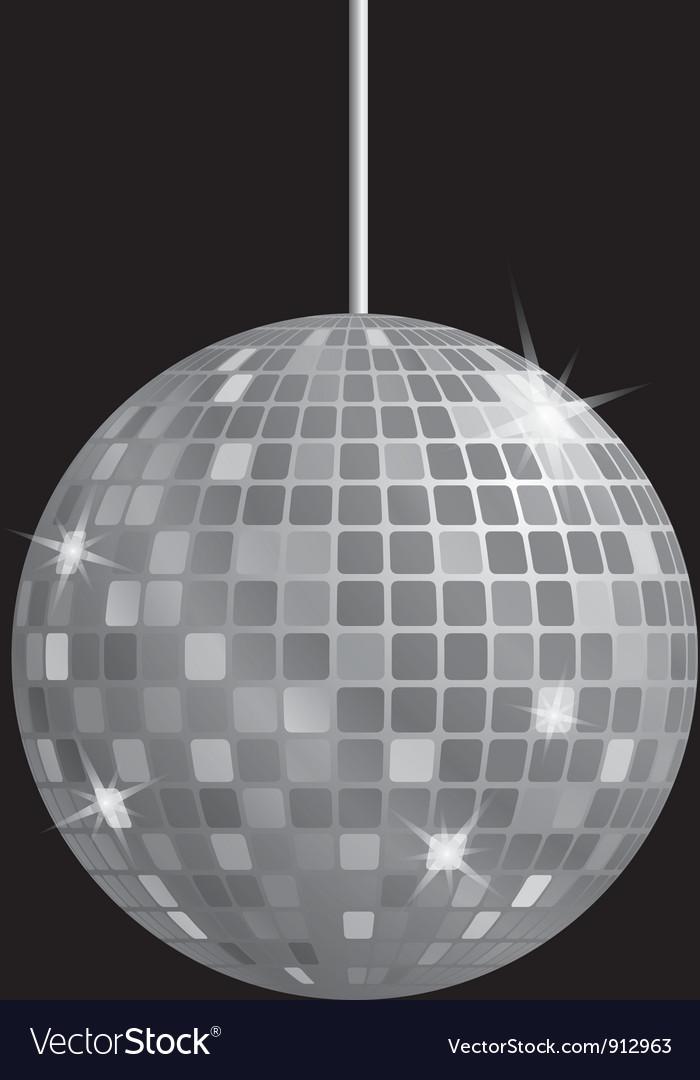 Disco mirror ball vector