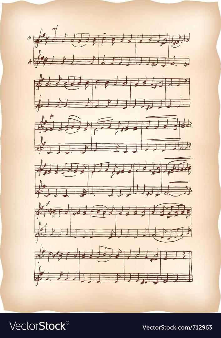 Vintage musical sheet vector