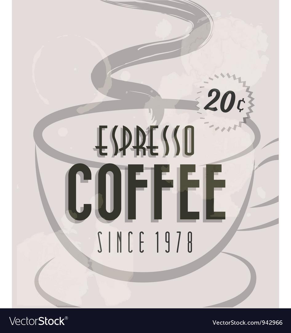 Retro vintage coffee tin sign vector