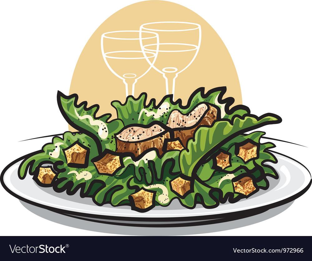 Salad caesar vector