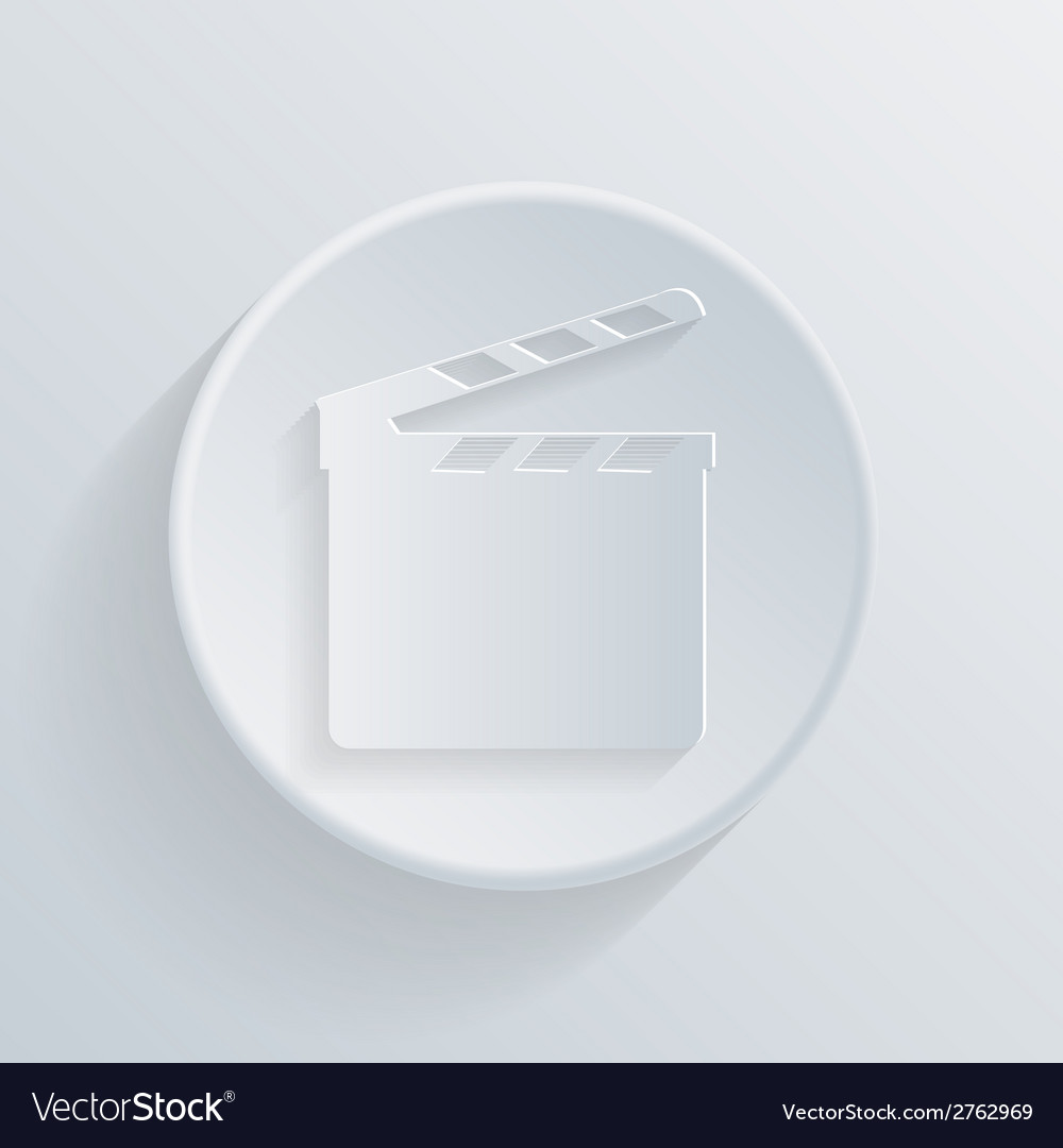Circle icon with a shadow slate board vector