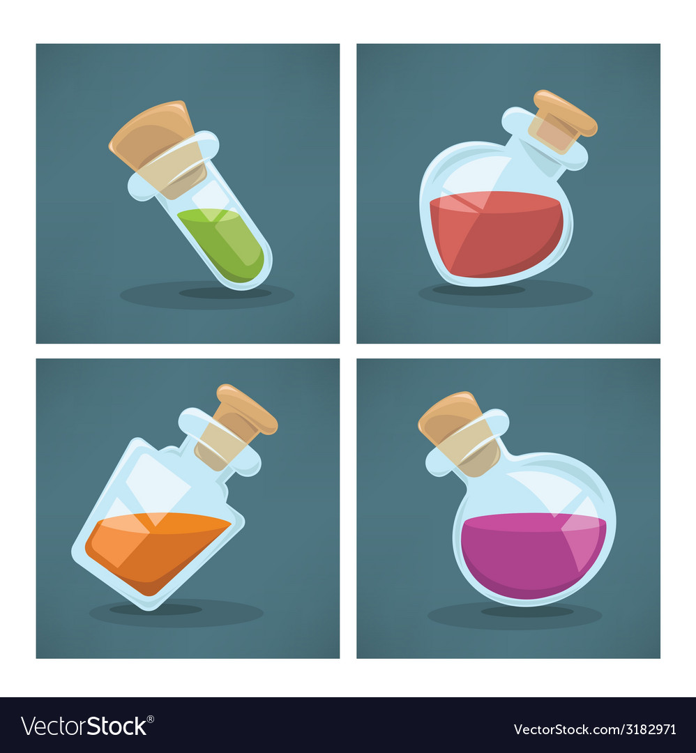 Potion bottles vector