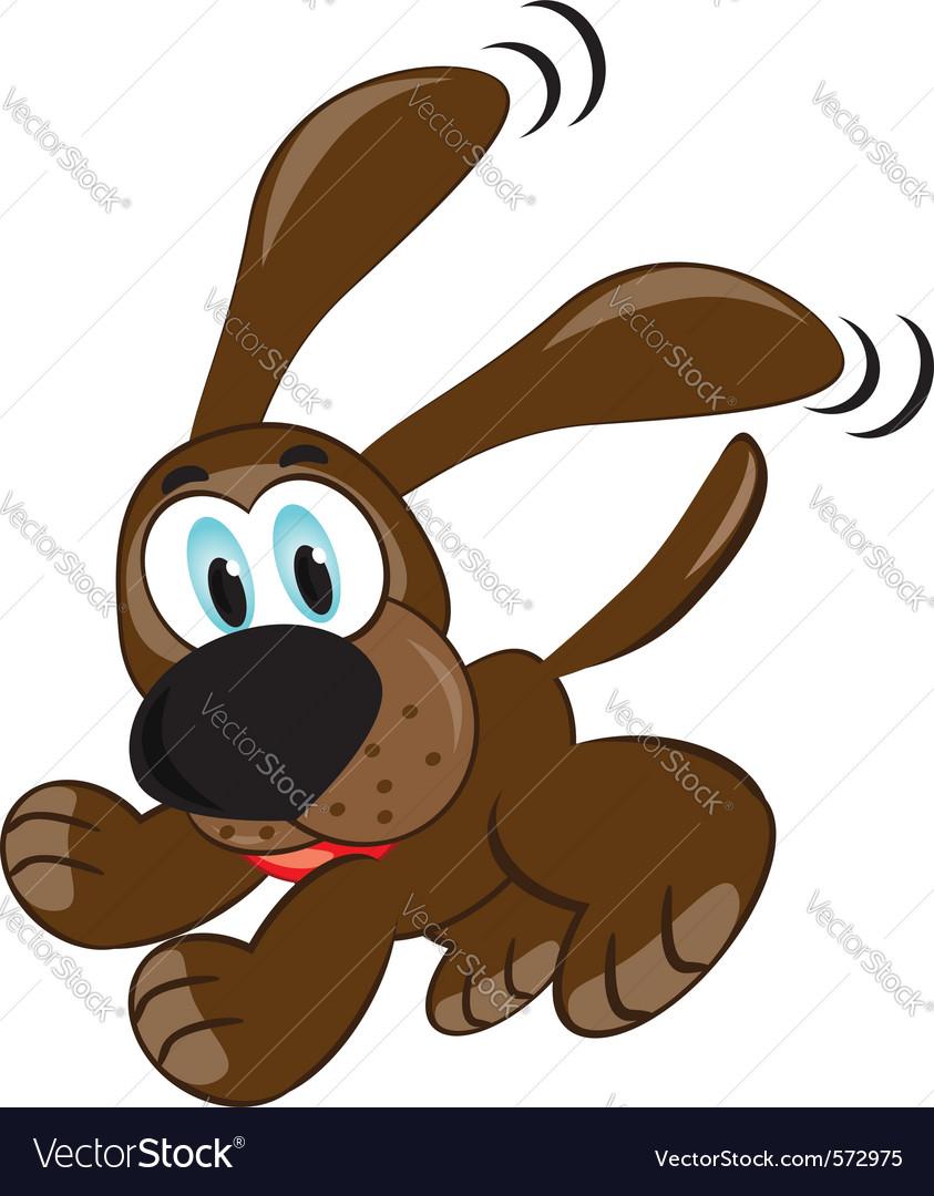 Cute brown puppy vector
