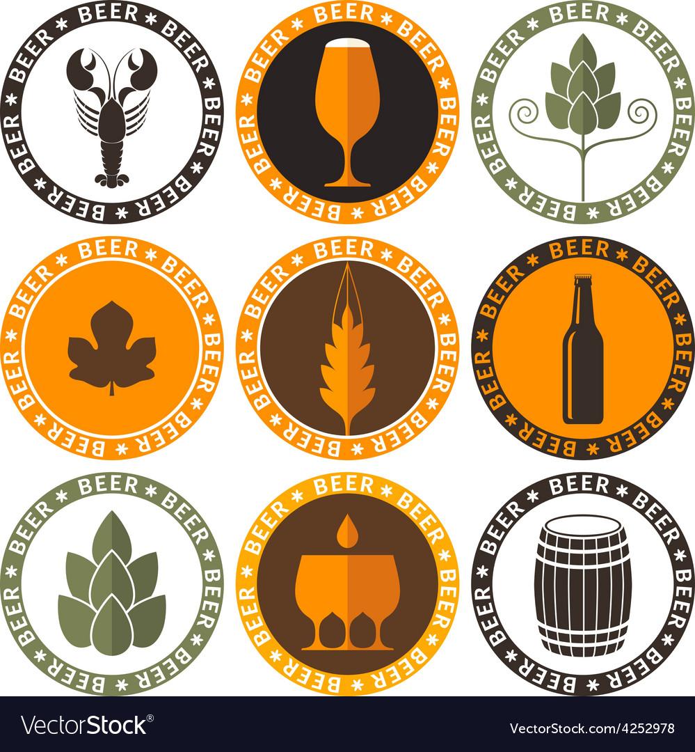 Beer label vector