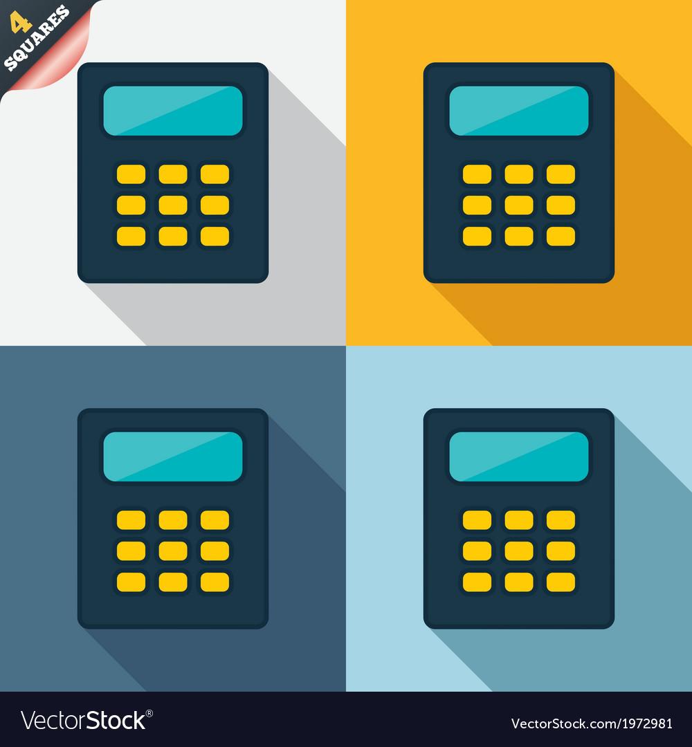 Calculator sign icon bookkeeping symbol vector
