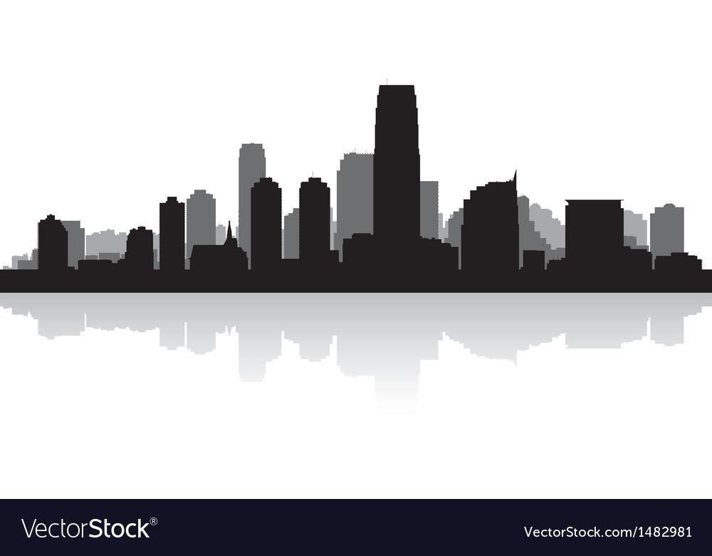 Jersey city usa skyline silhouette vector