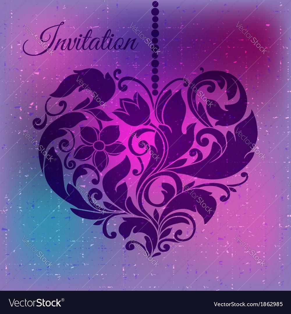Decorative ornamental heart vector