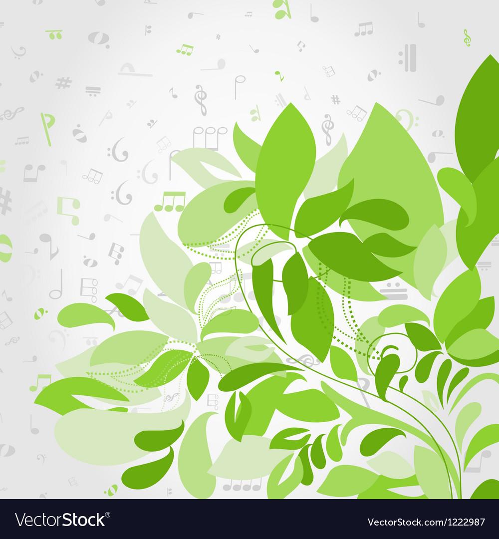 Plant music vector