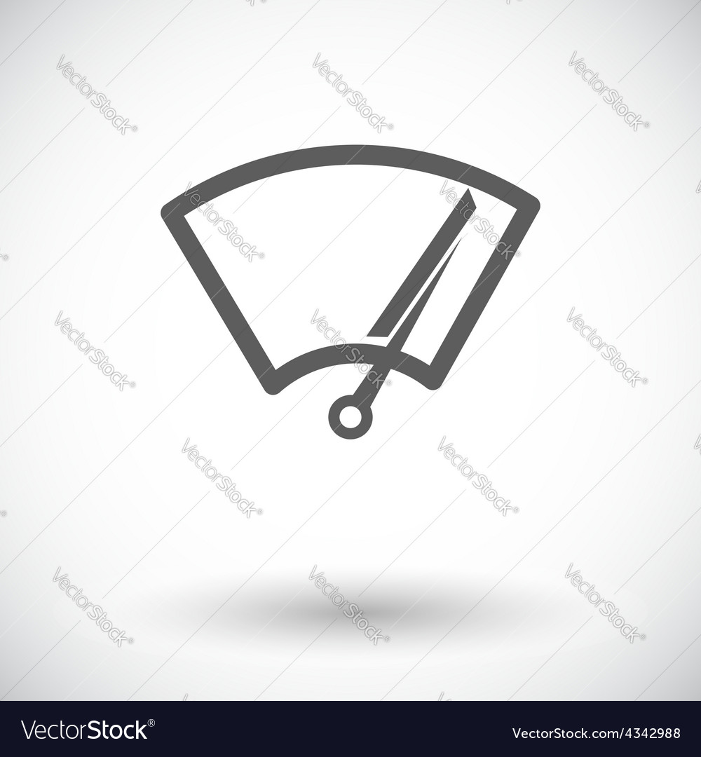 Car icon wiper vector