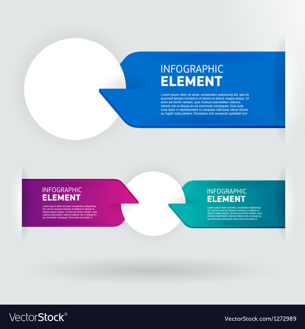 Modern number list infographic banner vector