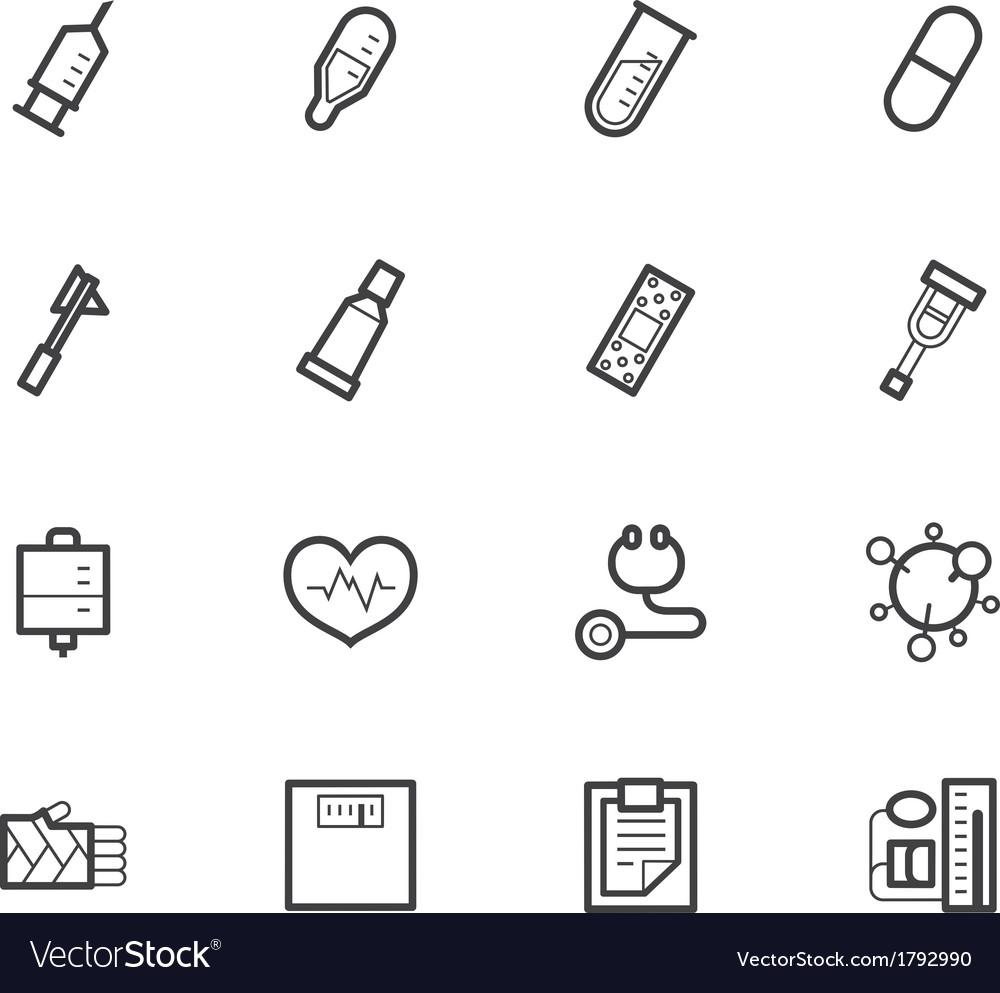 Hospital black icon set on white background vector