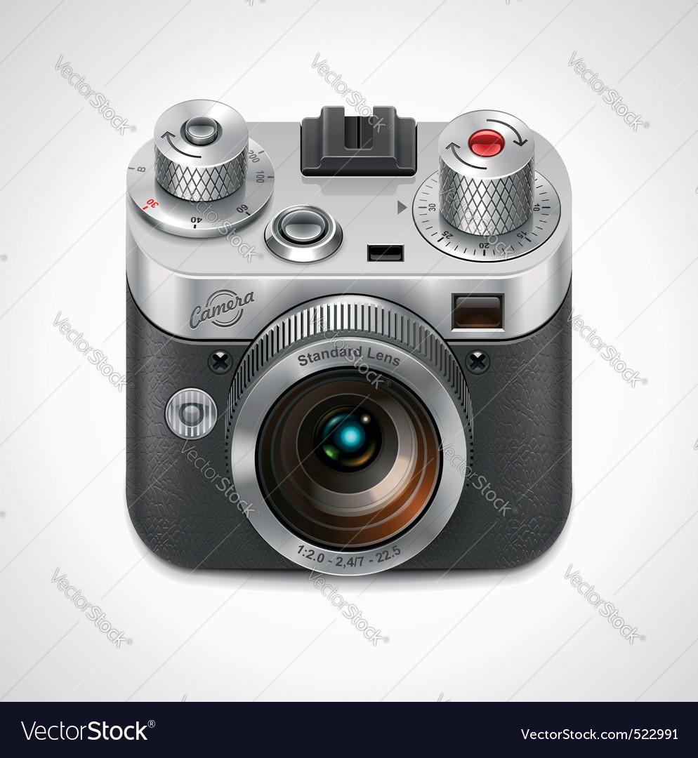retro camera xxl icon vector