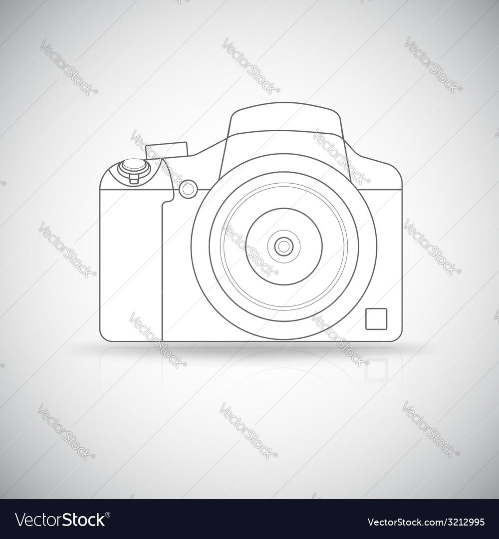 Photo camera outline vector