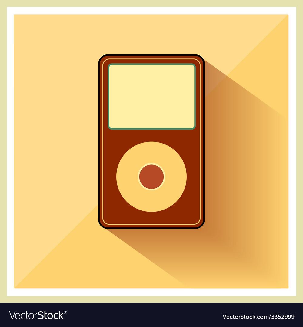Music media mp3 player retro icon vector