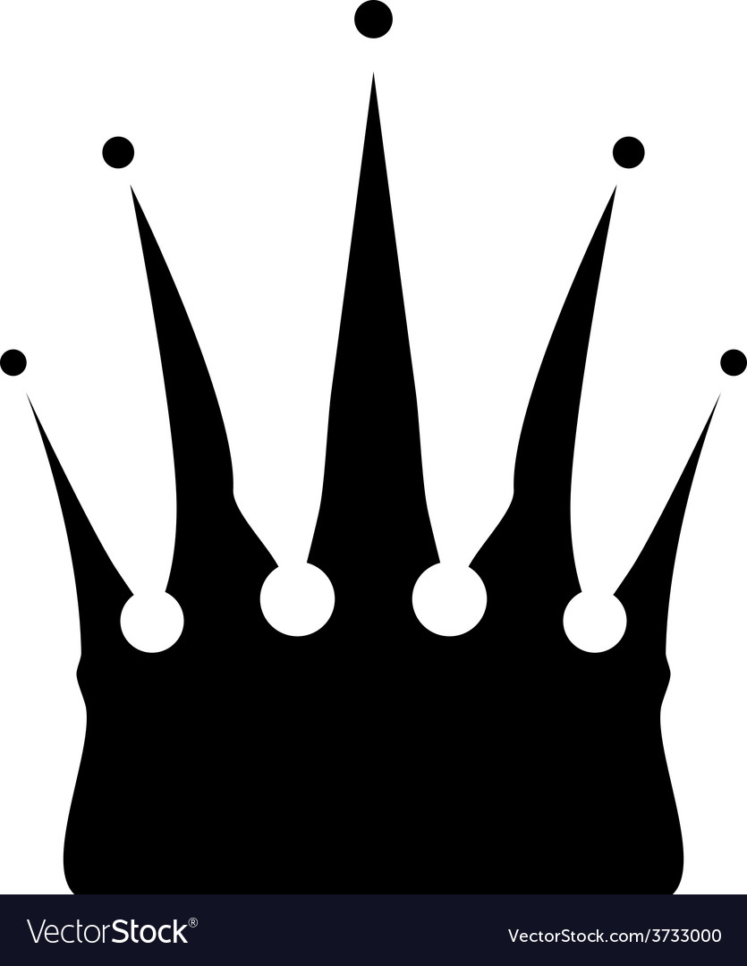 Icon of crown vector