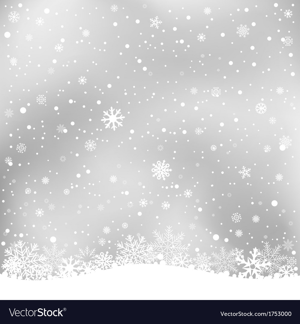 Winter gray background vector