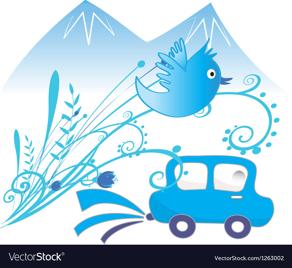 Car ecological and pure air background vector