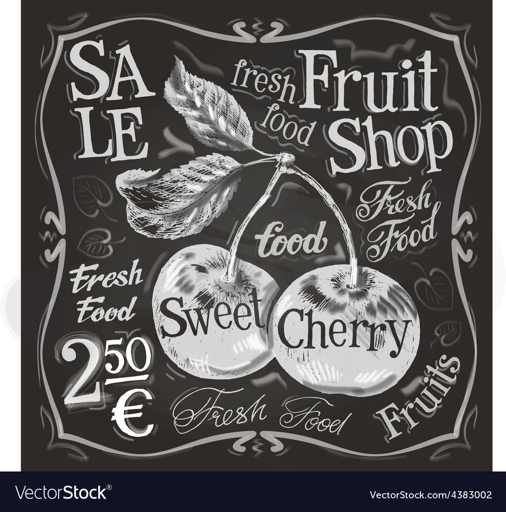 Cherry ripe logo design template fresh vector
