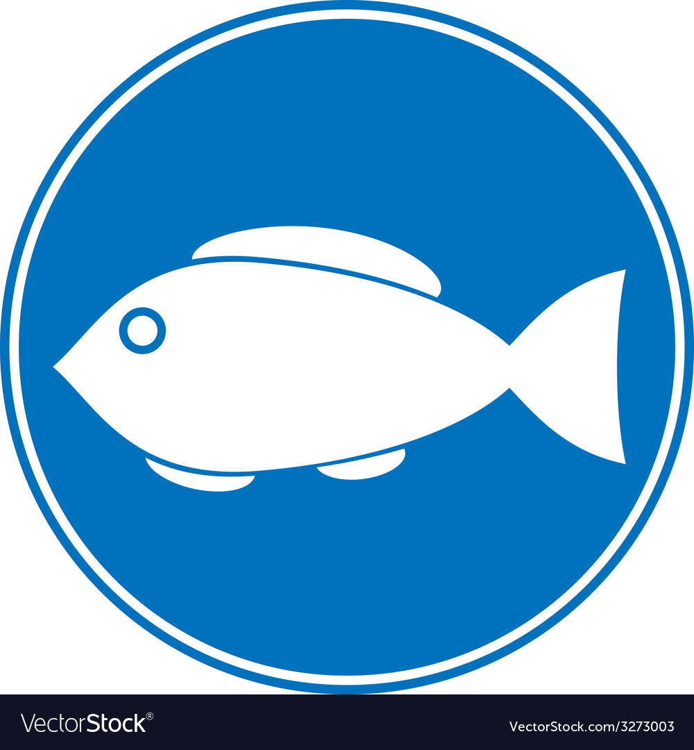 Sign of fishing allowed vector