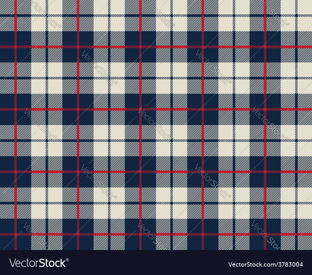 Blue and beige fabric texture pattern seamless vector