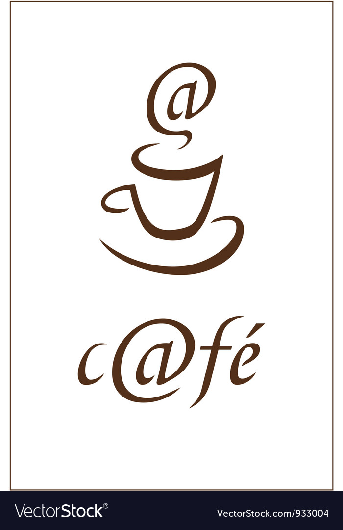 Internet cafe preview vector