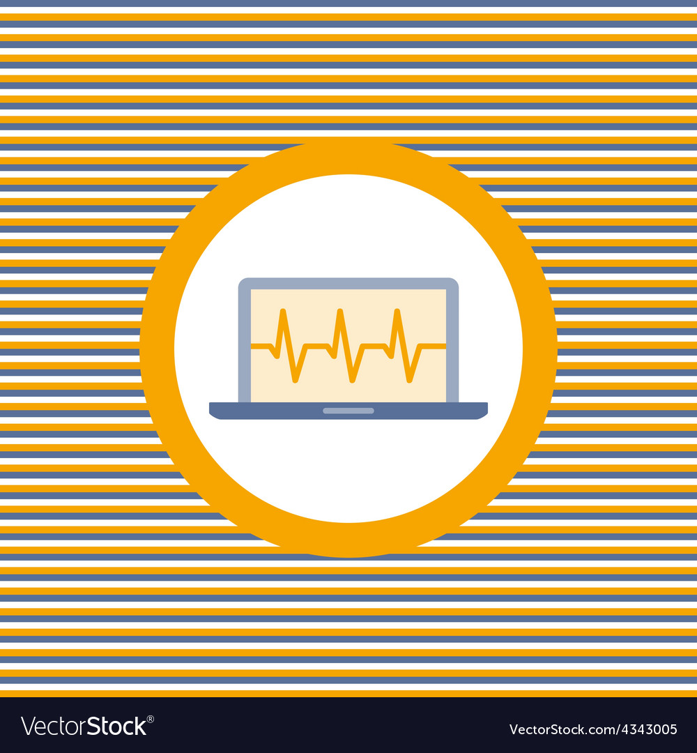 Car diagnostics computer color flat icon vector