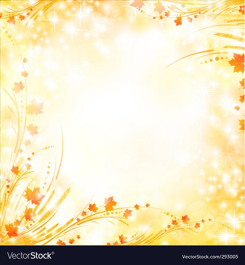 Floral autumn background vector