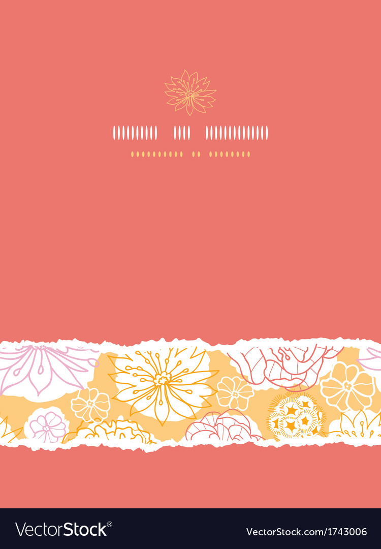 Warm day flowers vertical decor torn seamless vector