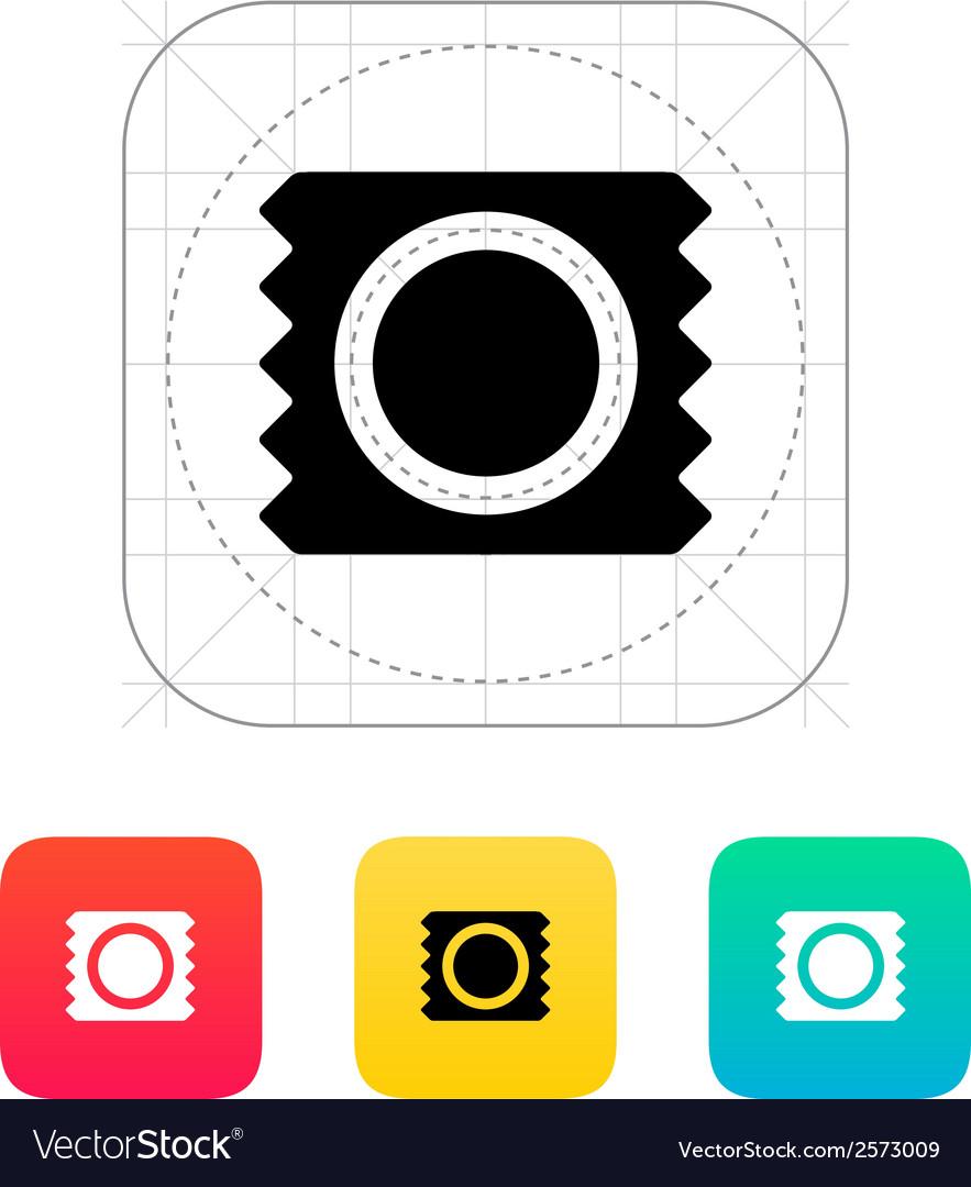 Condom package icon vector