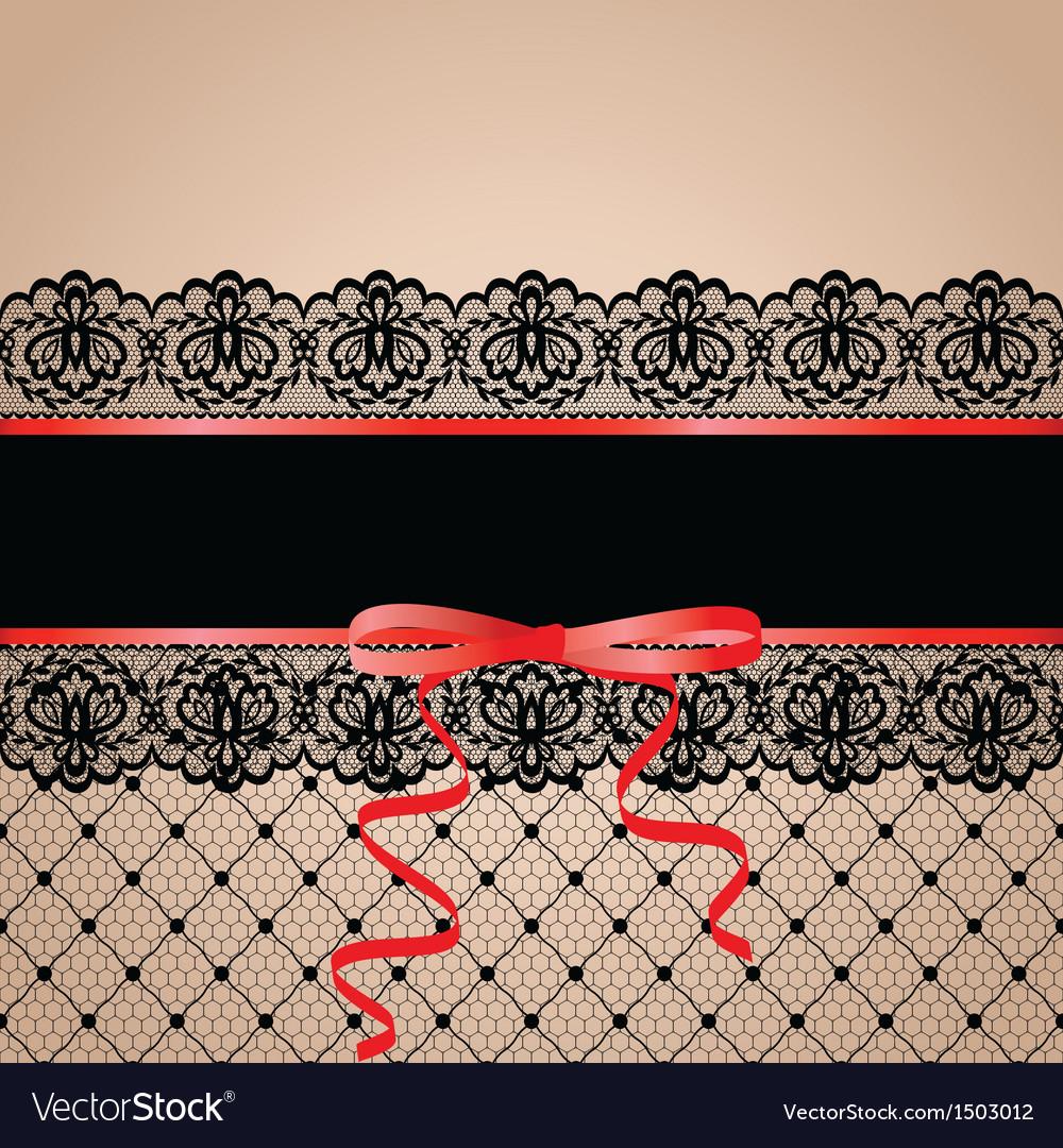 Black garter and stocking vector