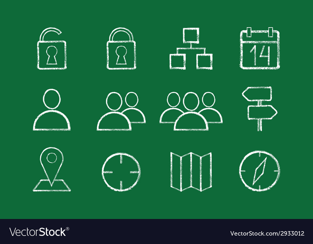 Internet icons set vector