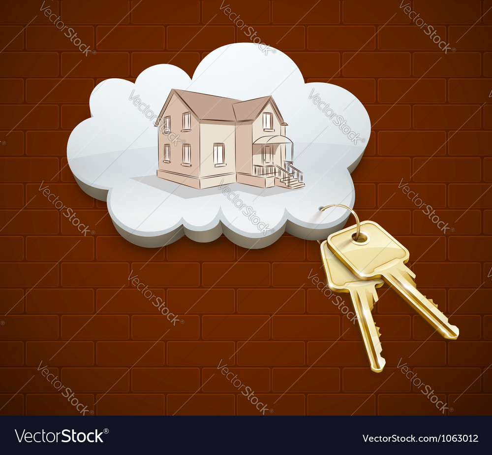 Keys of dream house in the vector